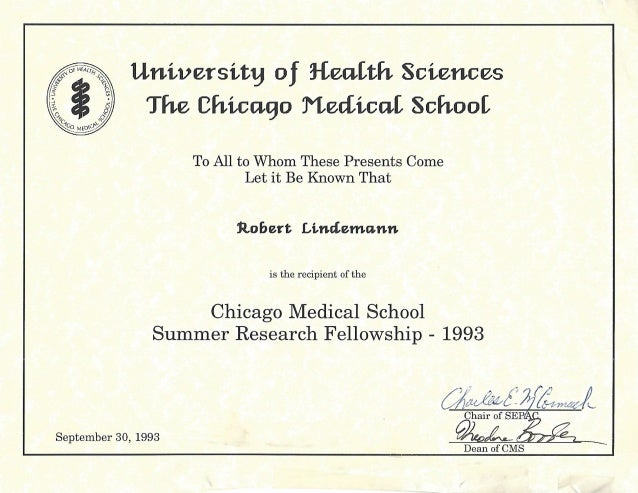 Surgery  Critical Care ResearchCertificate  The Chicago Medical Sc