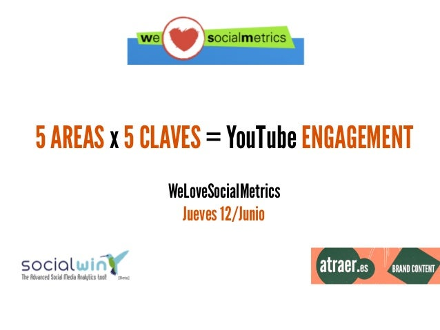 5 AREAS x 5 CLAVES = YouTube ENGAGEMENT WeLoveSocialMetrics Jueves 12/Junio