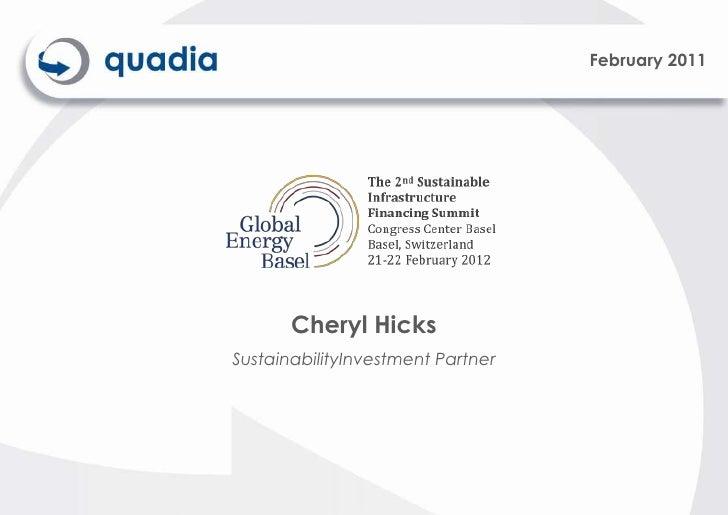 February 2011                                          Cheryl Hicks                            SustainabilityInvestment Pa...
