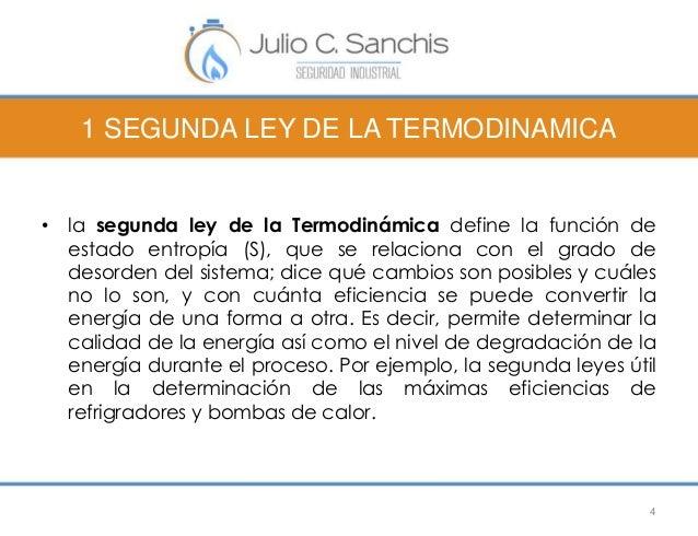 1 SEGUNDA LEY DE LA TERMODINAMICA  • la segunda ley de la Termodinámica define la función de  estado entropía (S), que se ...