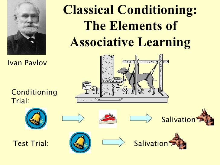Classical Conditioning: The Elements of Associative Learning Ivan Pavlov Salivation Conditioning Trial: Test Trial: Saliva...