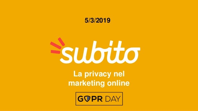 La privacy nel marketing online 5/3/2019