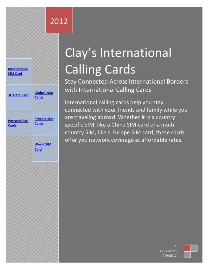 clay s international calling cards. Black Bedroom Furniture Sets. Home Design Ideas