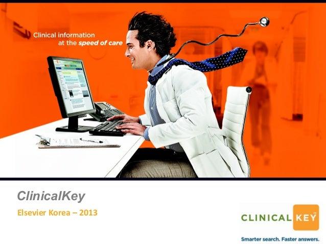 ClinicalKeyElsevier Korea – 2013