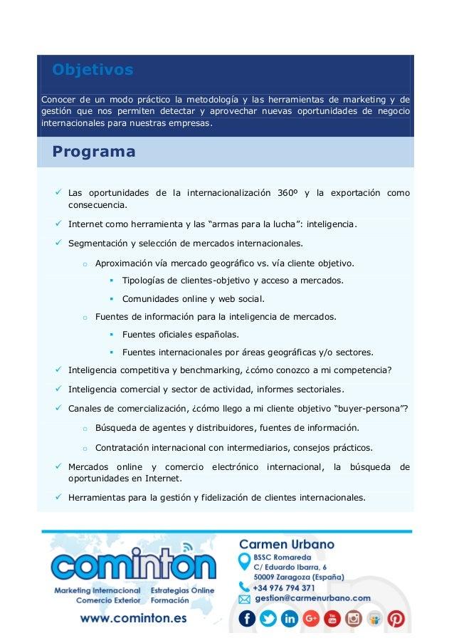 ¿Cómo encontrar nuevos clientes internacionales? (Programa formativo) Slide 2