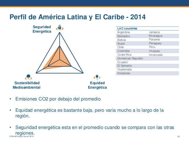 © World Energy Council 2014 Perfil de América Latina y El Caribe - 2014 1 23 Sostenibilidad Medioambiental Equidad Energét...