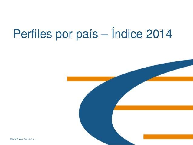 © World Energy Council 2014© World Energy Council 2014 Perfiles por país – Índice 2014