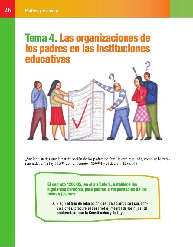 26 Padres y escuela Tema 4. Las organizaciones de los padres en las instituciones educativas ¿Sabían ustedes que la partic...
