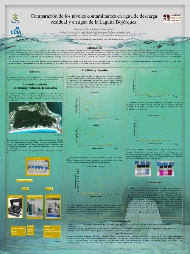 Comparación de los niveles contaminantes en agua de descargaresidual y en agua de la Laguna BojórquezRangel Mendoza, L.1 H...