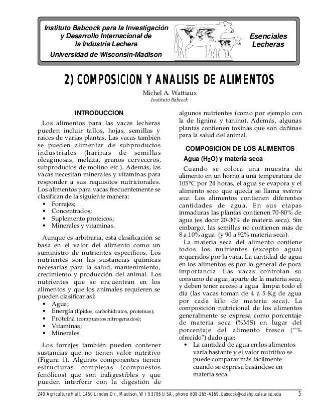 Instituto Babcock para la Investigación y Desarrollo Internacional de la Industria Lechera Esenciales Lecheras Universidad...
