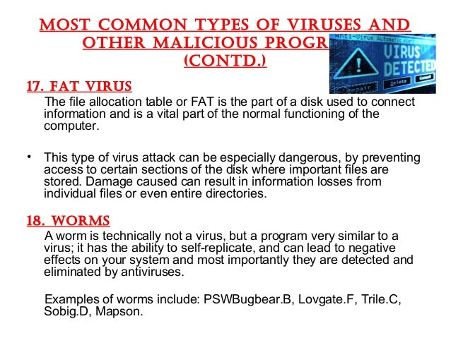 what is computer virus and types of computer virus pdf
