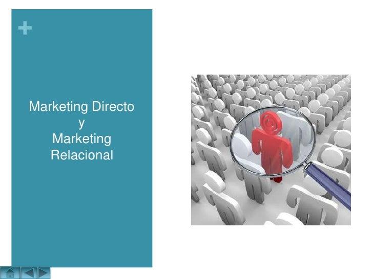 Marketing DirectoyMarketing Relacional<br />