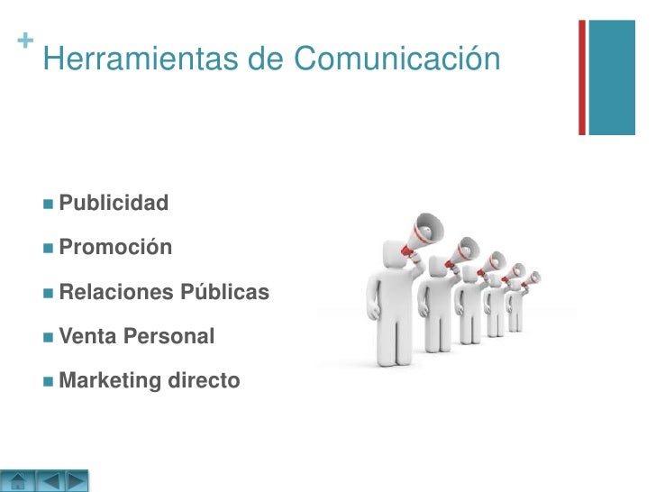 Herramientas de Comunicación<br />Publicidad<br />Promoción<br />Relaciones Públicas<br />Venta Personal<br />Marketing di...