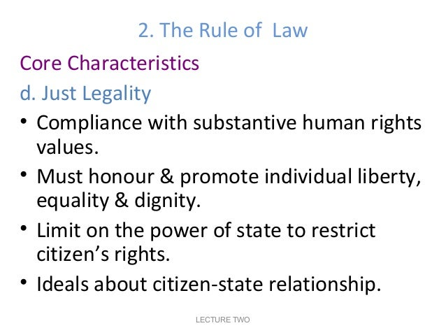 Principles of Justice and Fairness