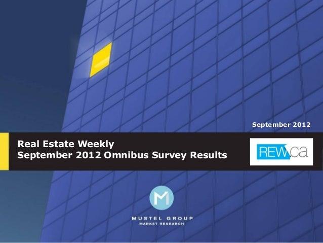 September 2012Real Estate WeeklySeptember 2012 Omnibus Survey Results                                                 1