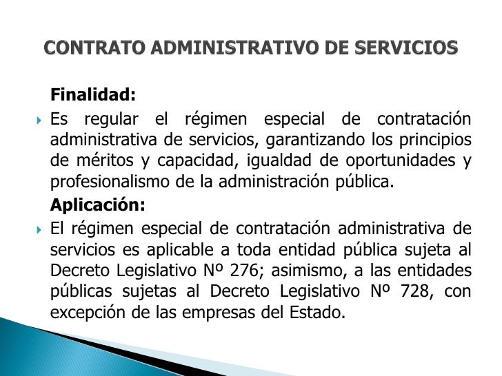 CONTRATO ADMINISTRATIVO DE SERVICIOS-CAS Slide 2