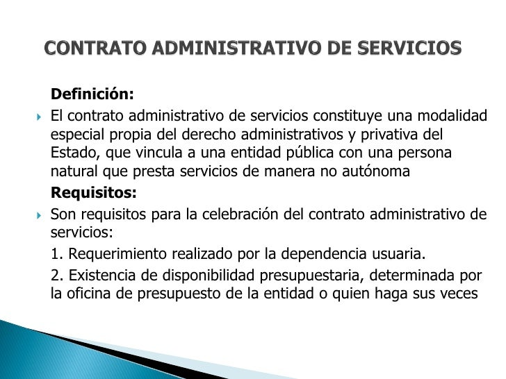 Contrato Administrativo De Servicios Cas