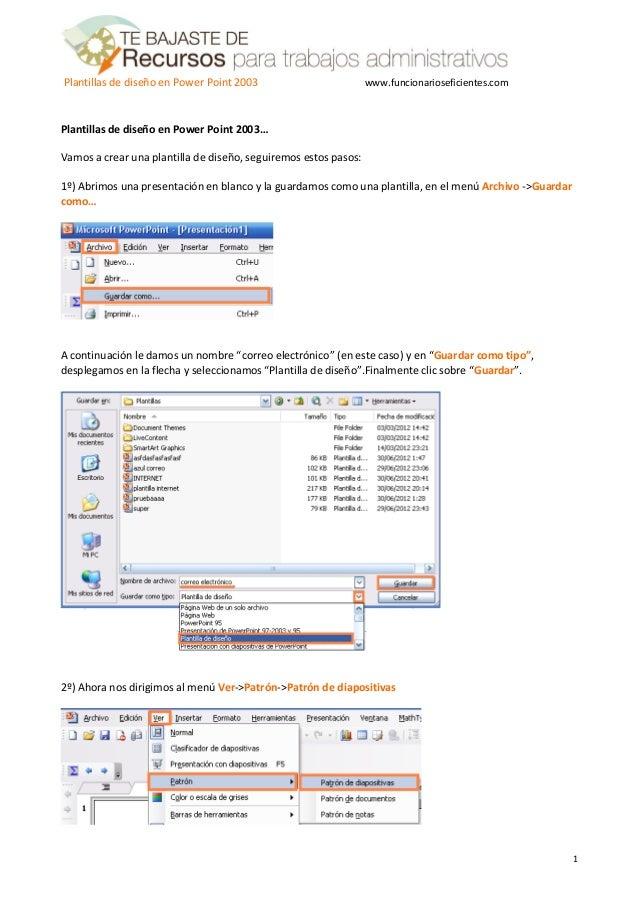 Como crear una plantilla o tema en PowerPoint 2003 - Tutorial en espa…