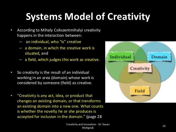 ENDCreativity and Innovation - Dr. Yasser                                               17              Mahgoub