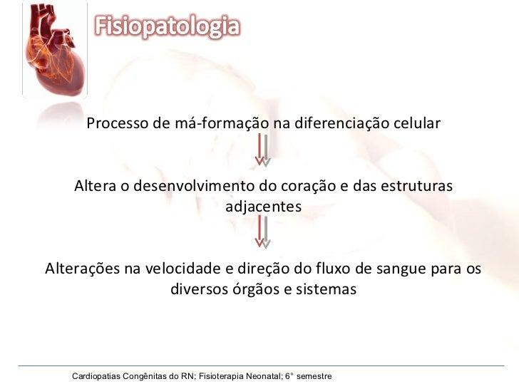 Processo de má-formação na diferenciação celular Altera o desenvolvimento do coração e das estruturas adjacentes Alteraçõe...