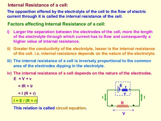 various factors on which internal resistance of a cell depends The above graph was constructed for a lead acid battery, but with different scaling factors battery life depends on the the cell's internal resistance.