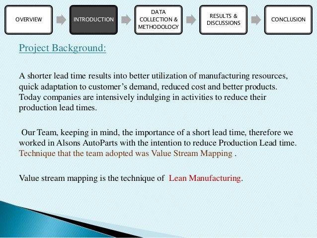 VSM (Lean Manufacturing) Project PPT