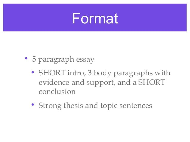a short 4 paragraph essay about Introducing the college essay model: beyond the 5-paragraph essay so what's wrong with the high-school model: the 5-paragraph model too short for a.