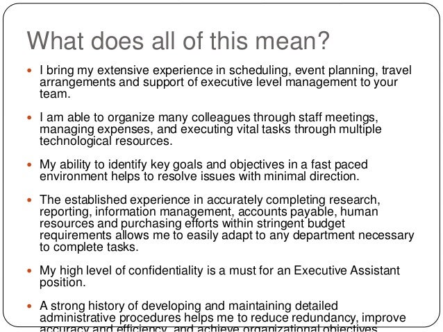 what does extensive experience mean
