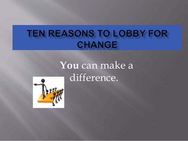 You can make a difference.