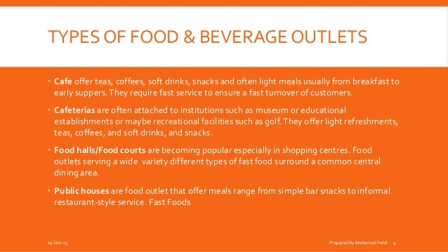 Food And Beverage Service Outlet