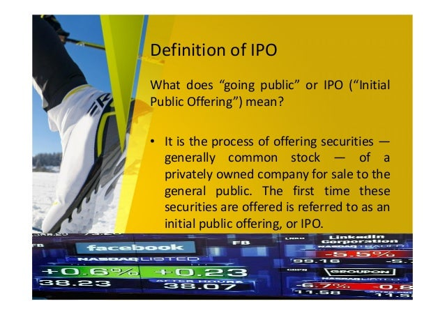 What does an ipo mean for a company