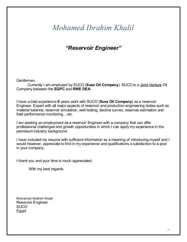 Mohamed khalil cover letter mohamed khalil cover letter mohamed ibrahim khalil reservoir engineer gentlemen currently i am employed by suco spiritdancerdesigns Gallery