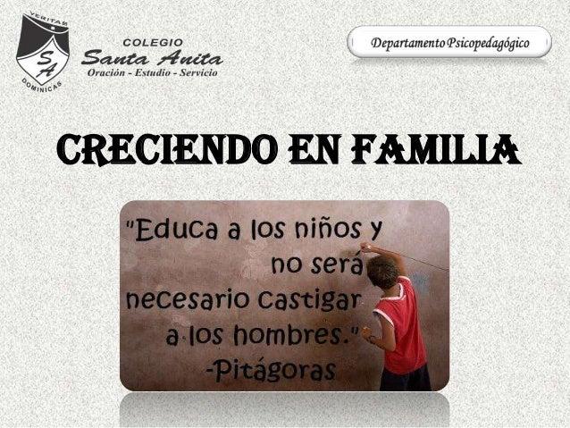 CRECIENDO EN FAMILIA