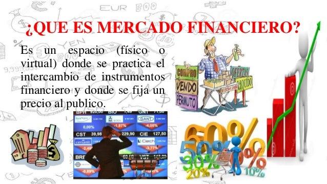 Mercado financiero for Que es mercado exterior