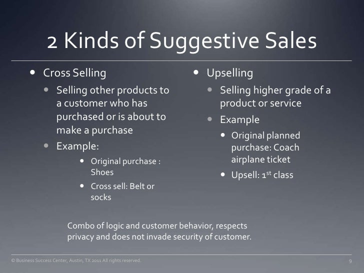 suggestive sales for retailers daa seminar aug 2011