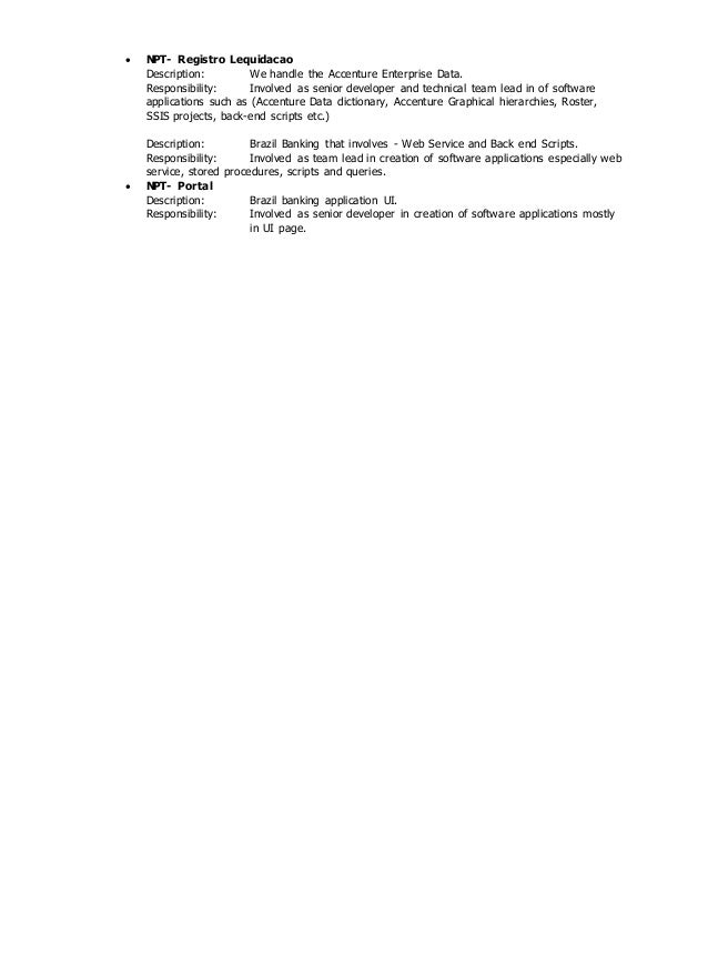 Modern Senior Software Engineer Job Description Accenture ...