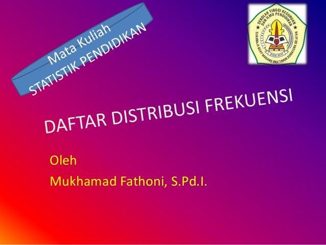 Oleh Mukhamad Fathoni, S.Pd.I.