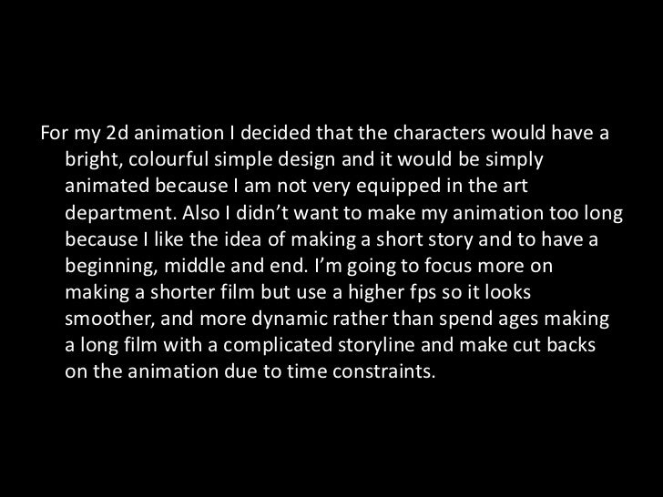 2d Animation Proposal