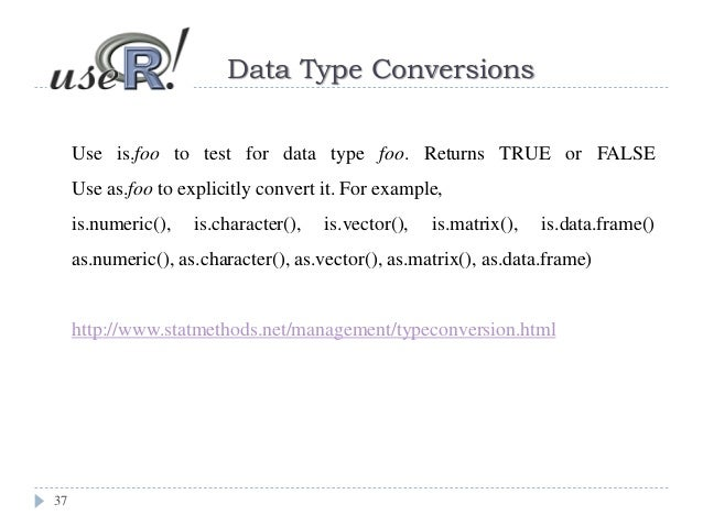 2 data structure in R