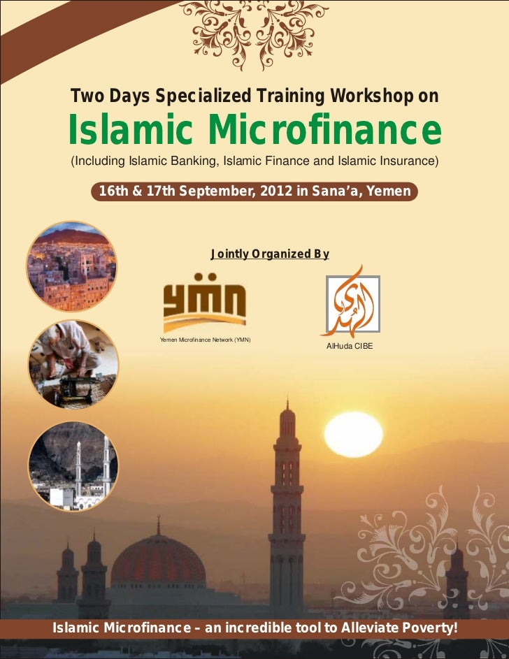 Two Days Specialized Training Workshop on  Islamic Microfinance  (Including Islamic Banking, Islamic Finance and Islamic I...