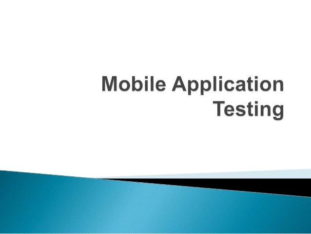 What is Mobile Application Testing?: It is somewhat similar to software testing but the testing will be performed on a mob...