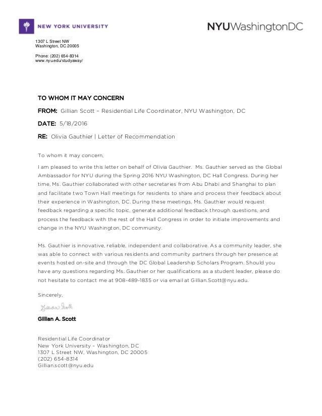 Letter of Rec  Olivia Gauthier