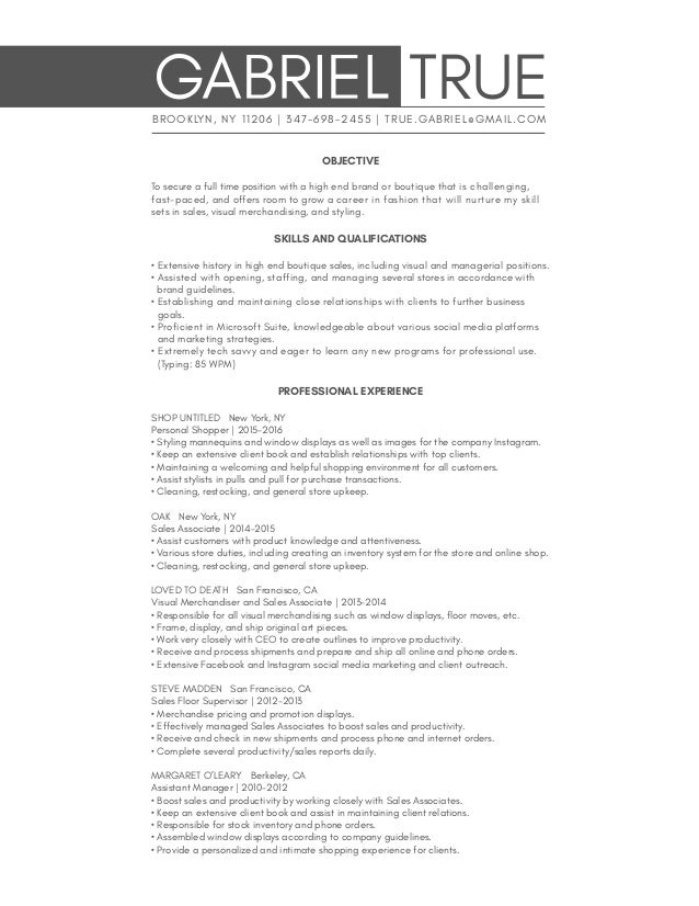 lead sales associate resume