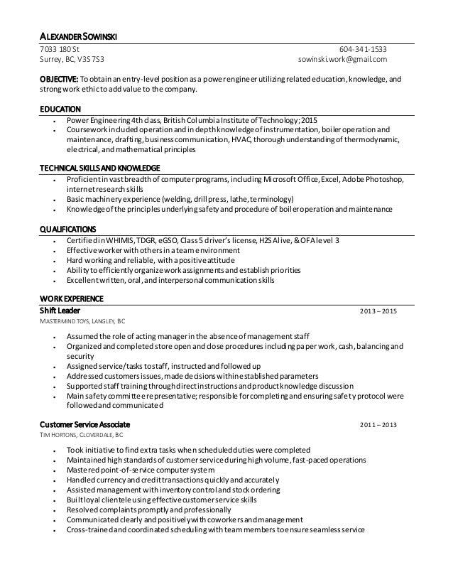 Alexander Sowinski_Power Engineering Resume
