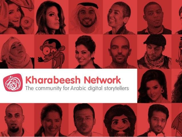 The community for Arabic digital storytellers Kharabeesh Network