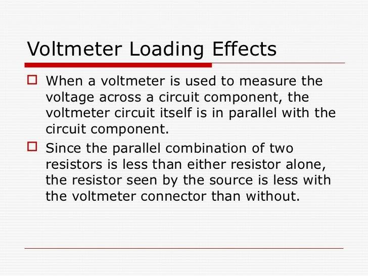 Voltmeter In Parallel : Dc meter