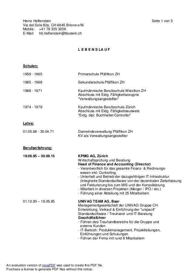Heinz Helfenstein Seite 1 von 3 Via del Sole 82a, CH-6645 Brione s/M. Mobile: +41 79 335 3206 E-Mail: hb.helfenstein@bluew...