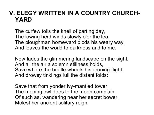 elegy written in a country churchyard meaning