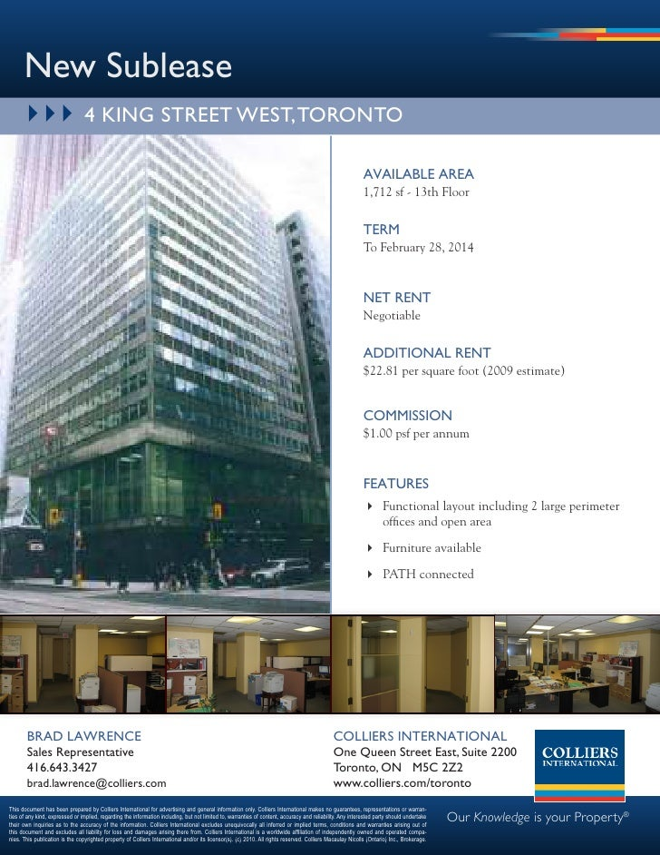 New Sublease        } } } 4 kiNg Street weSt, toroNto                                                                     ...