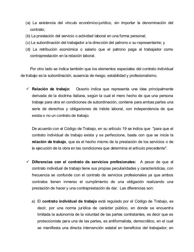 2 derecho laboral Contrato laboral de trabajo